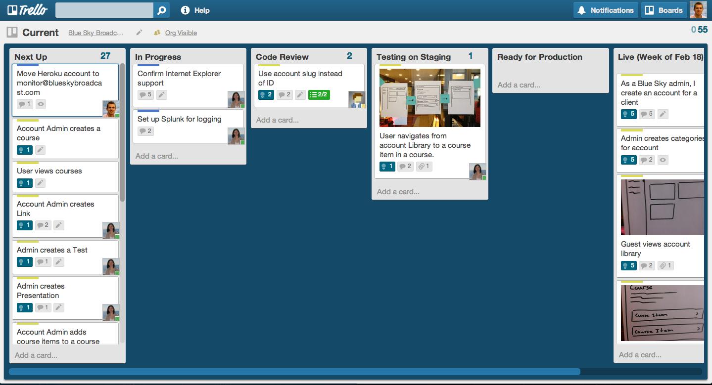 Using Trello as a priority desktop