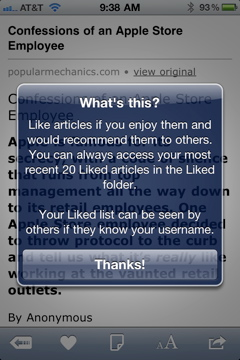 The new sharing feature on Instapaper is great