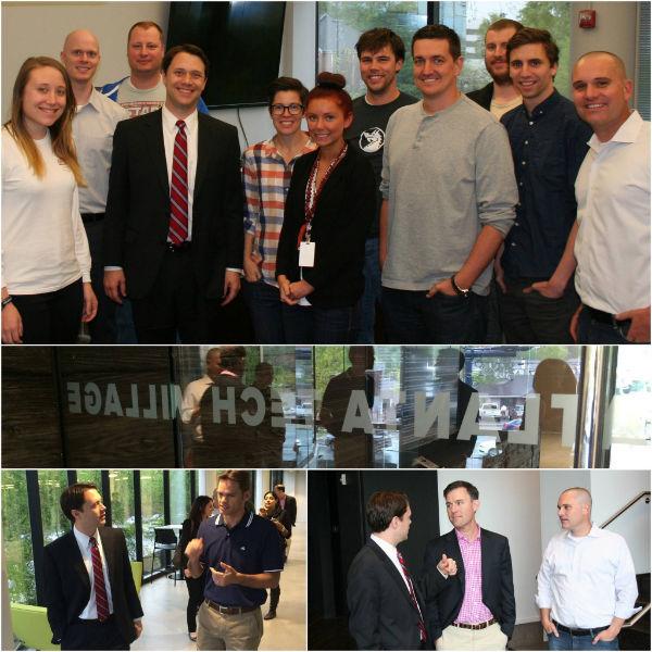 And the hits keep coming at the Atlanta Tech Village as Jason Carter came to visit